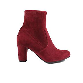 Caprice 25300 Bordeaux Microfibre Suede Womens Heeled Ankle Boots