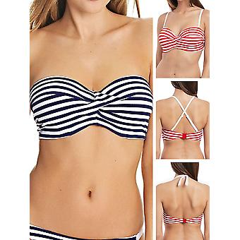 Drift Away Bandeau Strapless Twist Bikini Top