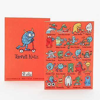 Tyrrell Katz Monsters Greetings Card