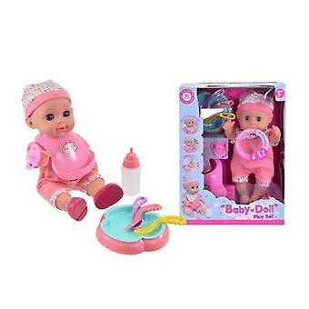 """Drikk & Wet Baby doll 12 """"med lyd & tilbehør"""