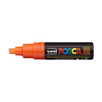 Uni POSCA PC-8K 8mm Chisel Marker Pen - Fluorescent Orange