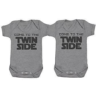 Come To The Twin Side, Baby Gift, Baby Boy Gift, Baby Girl Gift, Baby Boy Bodysuit, Baby Girl Bodysuit