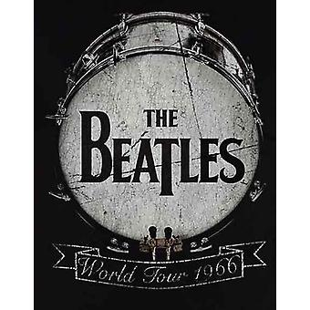 The Beatles T Shirt World Tour 1966 Drum Band Logo new Official Mens