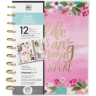 Happy Memory Keeping Undated 12-Month Big Planner -Life Is An Amazing Adventure