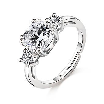 Silver meghan replica ring created with swarovski® crystals