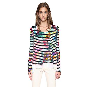 Desigual Women's Aretha Striped Long Sleeved Tshirt Top