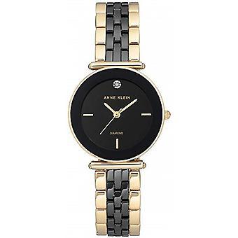 Anne Klein AK-N3158BKGB Watch - Diamond Watch C Ramic Bracelet Dor Bo Tier Aluminium Dor Women