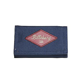 Billabong Walled 600D Polyester Wallet in Navy