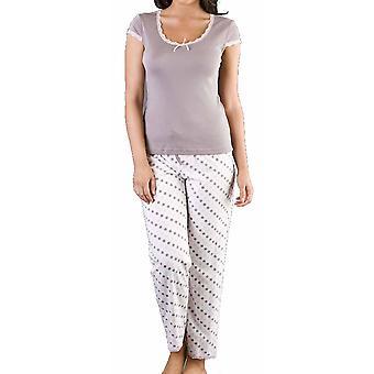 Naisten Spot lyhythihainen Pyöreä kaula pyjama yöasut yöasut
