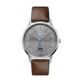 Lacoste Watch 2011033 - Rundes Stahlgehäuse Grauarmband