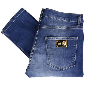 Cavalli Class A2jrb011 Stone Wash Slim Fit Stretch Indigo Blue Jeans