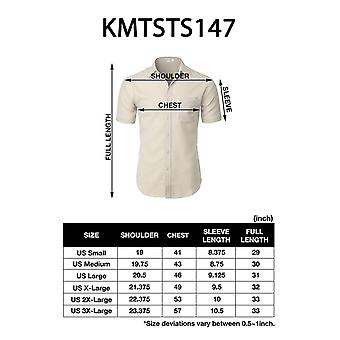 H2H Mens Casual Comfortable Fit Button Down Shirts Short Sleeve Lightweight M...