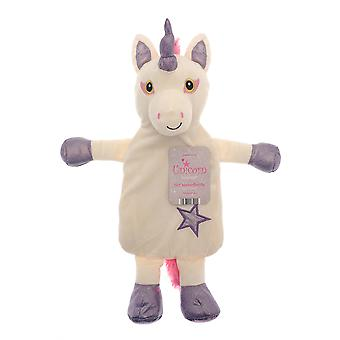 Country Club Unicorn Hot Water Bottle, paars