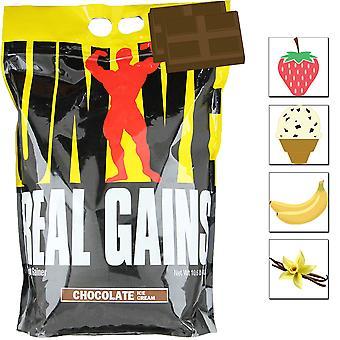 Ganhos Reais da Nutrição Universal, 10,6 lbs, Massa Premium e Ganhador de Peso Muscular