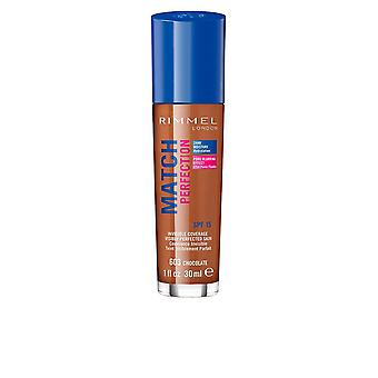 Rimmel London Match Perfection Foundation Cobertura invisible SPF15 30ml Chocolate #603