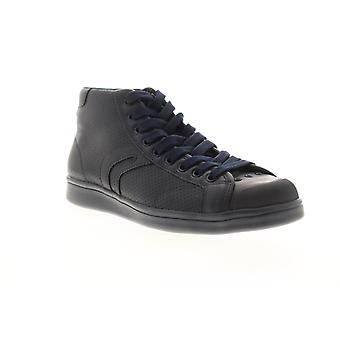 Geox U Warrens Mens Blue Leather High Top Lace Up Euro Sneakers Shoes