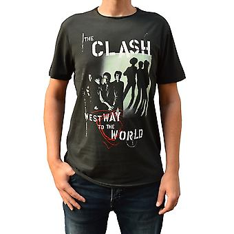Amplificata il Clash Westway al mondo Charcoal Crew Collo T-Shirt T-Shirt