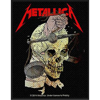 Patch de Metallica Harvester of Sorrow officiel coton noir nouveau coudre sur 10 cm x 8 cm