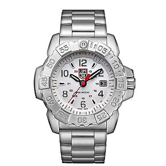 Luminox Navy SEAL Quartz White Dial Silver Stainless Steel Men's Watch XS.3258