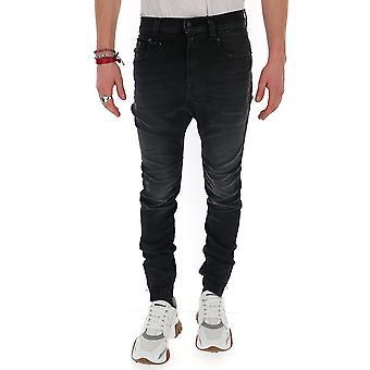 R13 R13m0427579 Men's Black Cotton Jeans