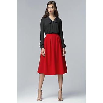 Red nife skirts