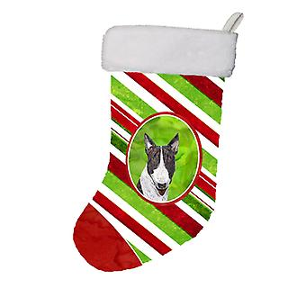 Bull Terrier Candy Cane Christmas Christmas Stocking