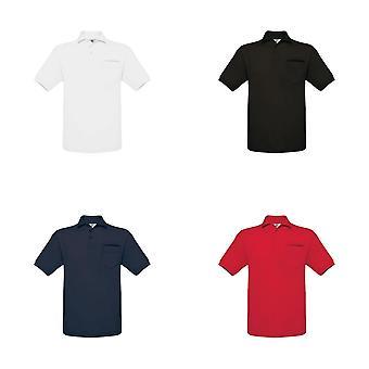 B&C Mens Safran Plain Short Sleeve Polo Shirt With Pocket