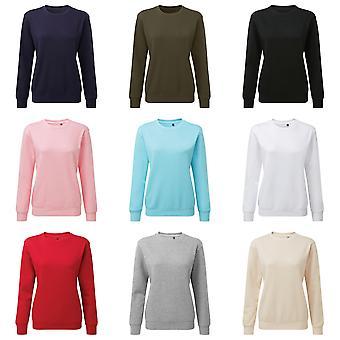 Asquith & Fox Kadın / Bayanlar Organik Mürettebat Boyun Sweatshirt