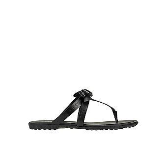 Tod's Ezgl027054 Women's Black Rubber Flip Flops