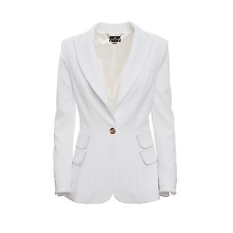 Elisabetta Franchi Gi15596e2360 Blazer de Poliéster Branco