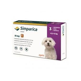 Simparica 10mg Chewable Tablets For Dogs >2.5-5 kg (6-11 lbs)