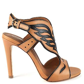 Ash GALAXY Heeled Sandals Nude Leather