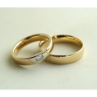 Christian gold wedding rings with diamond
