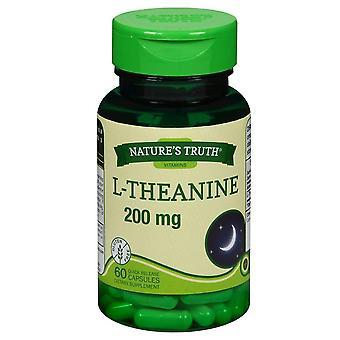 Nature-apos;s vérité l-theanine, 200 mg, complément alimentaire, capsules, 60 ea