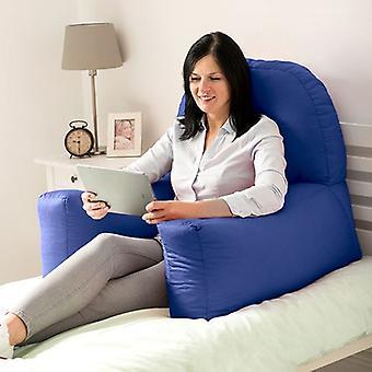 Cambio di divani Cotton Twill 'Chloe' Bean Bag Back Rest Reading Cushion (Royal Blue)