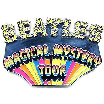 The Beatles Belt Buckle Magical Mystery Tour Shaped Band Logo new Official metal