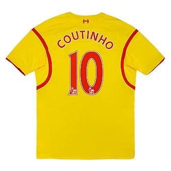 Maillot 2014-2015 Liverpool Away (COUTINHO 10) (Excellent)