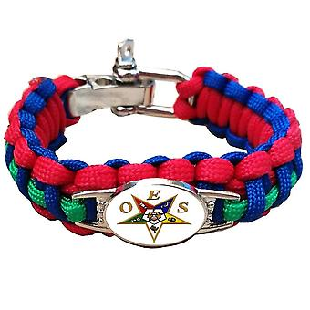 Paracord oes order of the eastern star bracelet adjustable