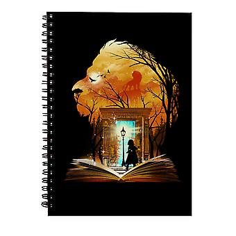 Chronicles Of Narnia Aslan Wardrobe Collage Spiral Notebook