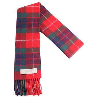 Locharron of Scotland Fraser Red Modern Lambwool Scarf - Red/Dark Green/Navy