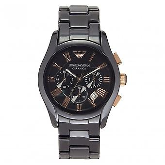 Armani Watches Ceramic Black Gold Mens Chronograph Watch Ar1410