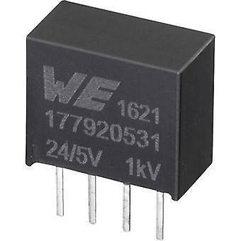 Würth Elektronik 177920531 DC/DC-Wandler (Druck) 24 V 5 V 0,2 A 1 W Nr. der Ausgänge: 1 x