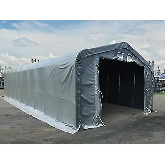 Storage shelter PRO 6x18x3.7 m PVC w/ skylight, Grey