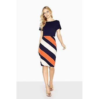 Paper Dolls Womens/Ladies Biarritz Diagonal Stripe Dress