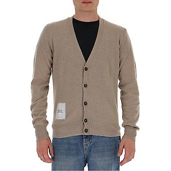 Maison Margiela S50ha0954s16823113m Men's Beige Wool Cardigan