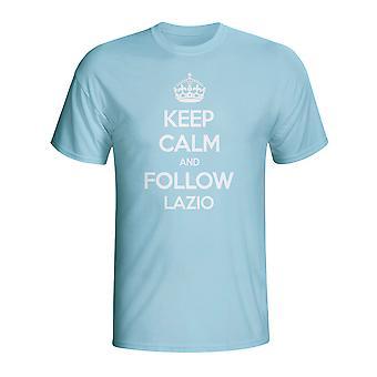 Mantener la calma y seguir Lazio camiseta (azul cielo)