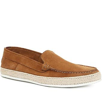 Jones Bootmaker Mens Saxon Suede Leather Espadrille Moccasin