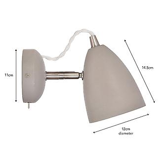 Garden Trading Millbank Switched Adjustable Wall Light In A Polymer Concrete