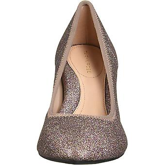 Taryn Rose Women's Shoes Tess stretch Glitter Fabric Closed Toe Classic Pumps