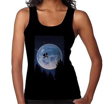 E.T. Flying Bicycle Movie Poster Women's Vest
